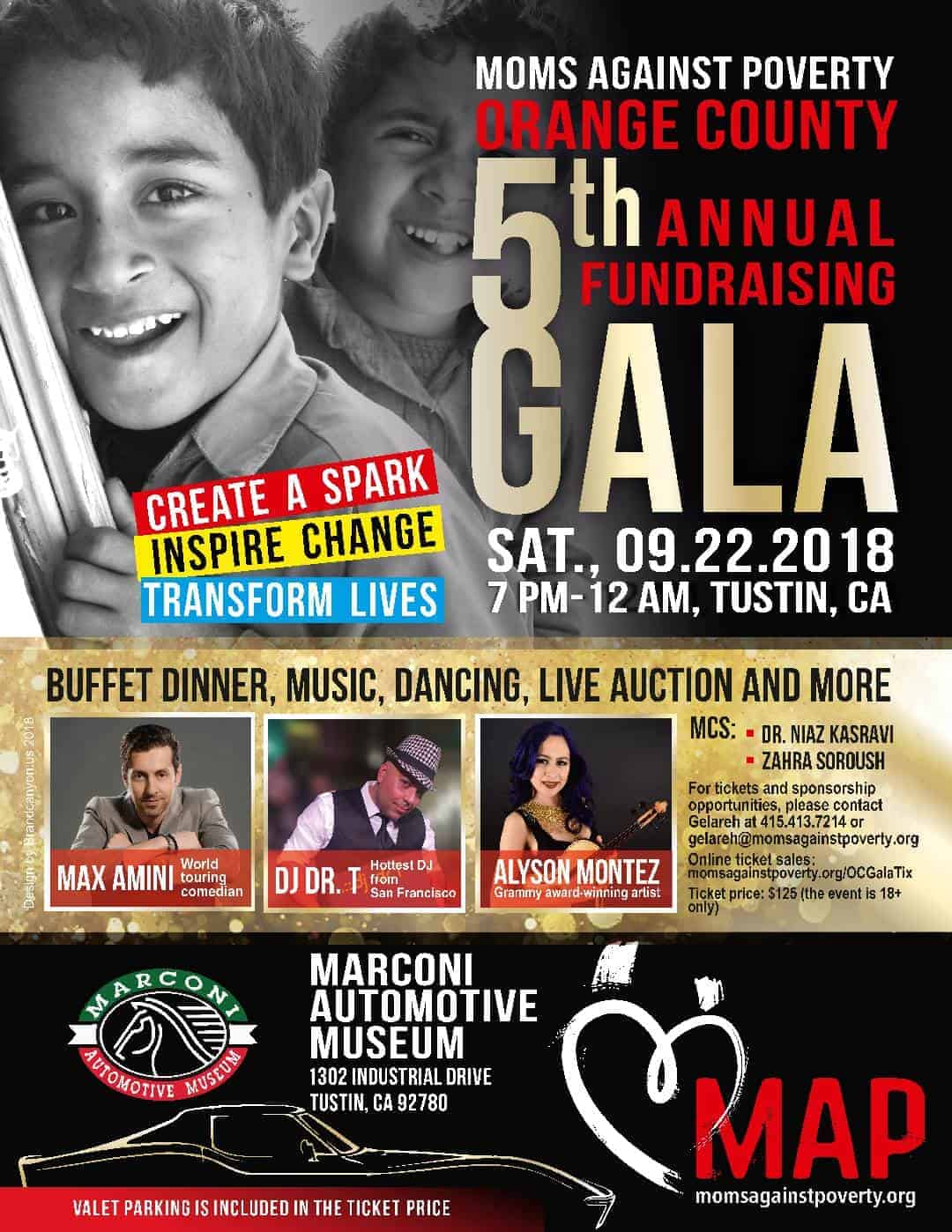 5th Annual Fundraising Gala – SEP 22, 2018 – OC