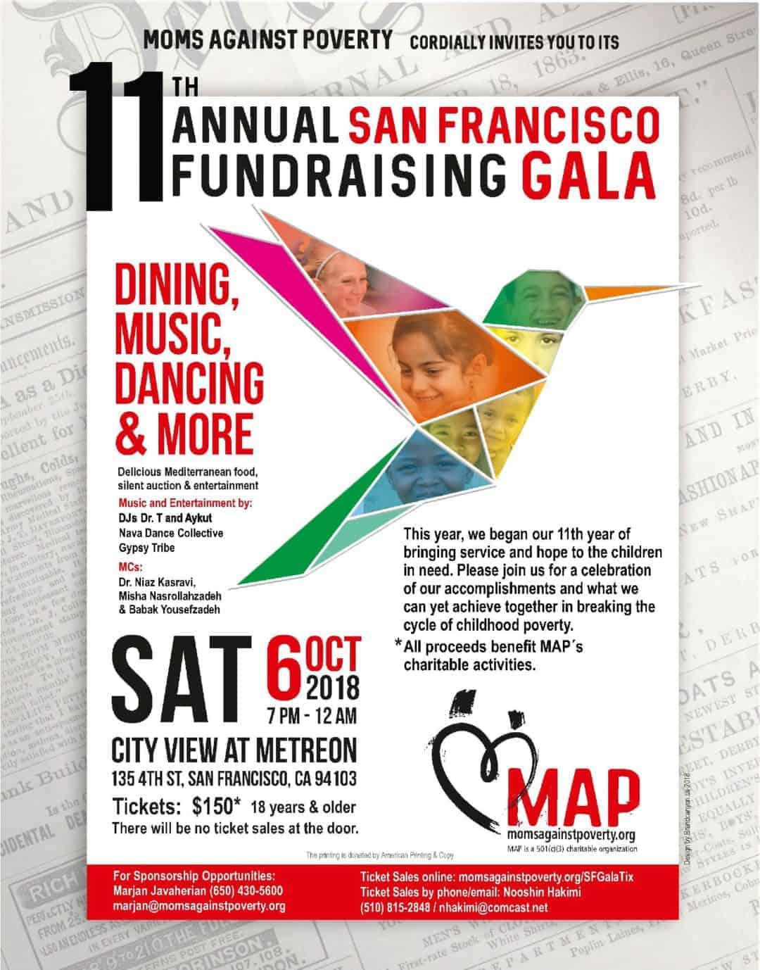 MAP 11th Annual Gala – Oct 6, 2018 – SF