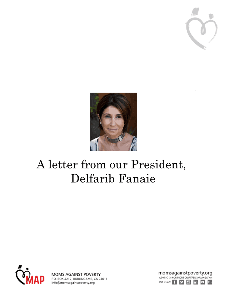 A letter from our President, Delfarib Fanaie